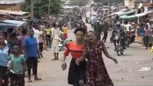 Watch The Shocking Video Of Governor Fayose Carrying A Woman Who Collapsed That Is Breaking The Internet